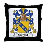 Guiraud Family Crest Throw Pillow