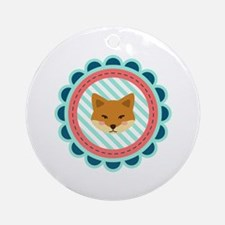 Baby Fox Patch Ornament (Round)
