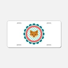 Baby Fox Patch Aluminum License Plate