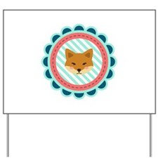 Baby Fox Patch Yard Sign