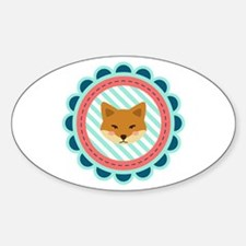 Baby Fox Patch Decal