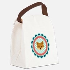 Baby Fox Patch Canvas Lunch Bag
