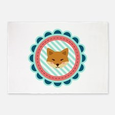Baby Fox Patch 5'x7'Area Rug