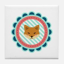 Baby Fox Patch Tile Coaster