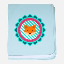 Baby Fox Patch baby blanket