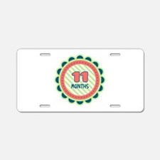 11 Months Aluminum License Plate