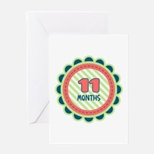 11 Months Greeting Cards