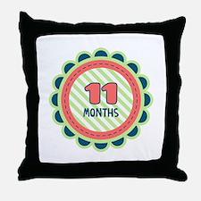 11 Months Throw Pillow