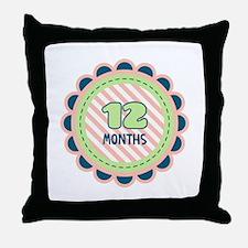 12 Months Throw Pillow