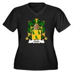 Guiot Family Crest Women's Plus Size V-Neck Dark T