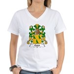 Guiot Family Crest Women's V-Neck T-Shirt