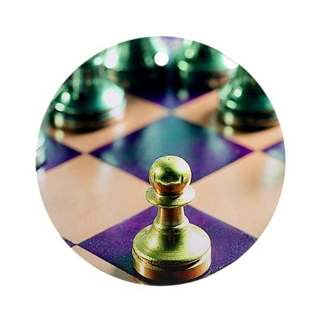Game of Chess Design Ornament (Round)