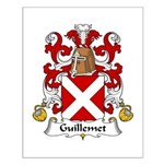 Guillemet Family Crest Small Poster