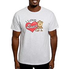 I Love My Monkeys T-Shirt