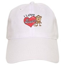 I Love My Monkeys Baseball Cap