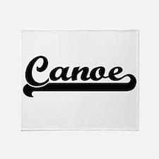Canoe Classic Retro Design Throw Blanket
