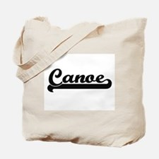 Canoe Classic Retro Design Tote Bag