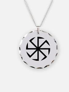 Kolovrat Necklace Circle Charm