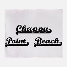 Chappy Point Beach Classic Retro Des Throw Blanket
