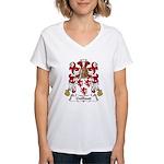 Guillaud Family Crest  Women's V-Neck T-Shirt