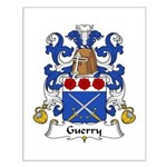 Guerry Family Crest Small Poster
