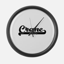 Crane Classic Retro Design Large Wall Clock