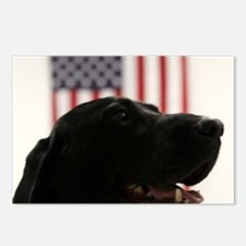 All-American Black Labrad Postcards (Package of 8)