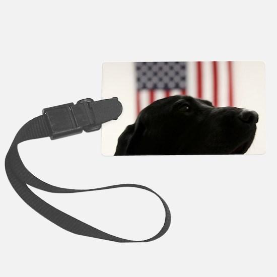 All-American Black Labrador Retr Luggage Tag