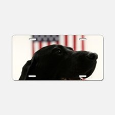 All-American Black Labrador Aluminum License Plate