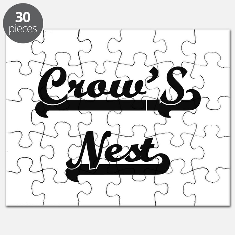 Crow'S Nest Classic Retro Design Puzzle