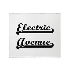 Electric Avenue Classic Retro Design Throw Blanket