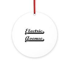 Electric Avenue Classic Retro Des Ornament (Round)
