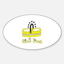 Picnic time flower basket Decal