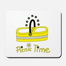 Picnic time flower basket Mousepad