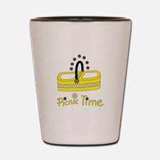 Picnic time flower basket Shot Glass