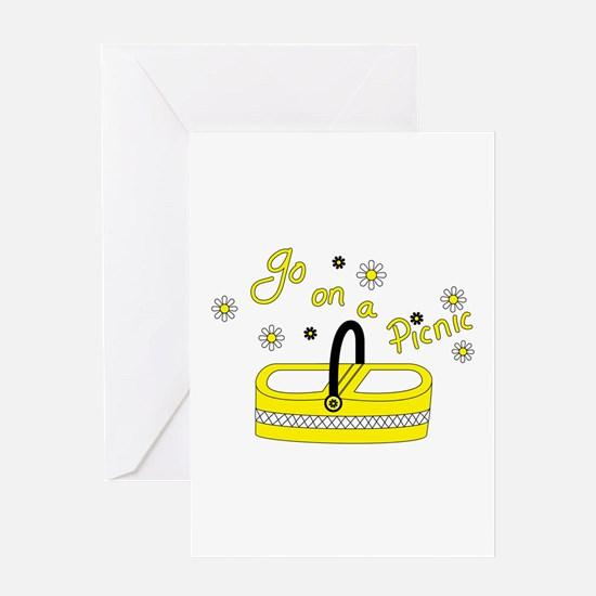 Go on a picnic basket Greeting Cards