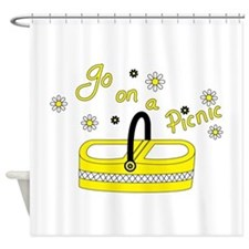 Go on a picnic basket Shower Curtain