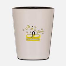 Go on a picnic basket Shot Glass