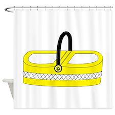 Yellow picnic basket Shower Curtain