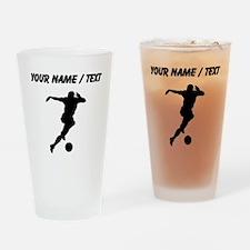 Soccer Player (Custom) Drinking Glass