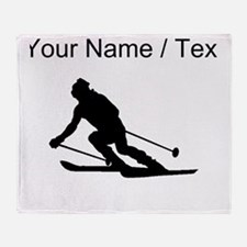 Skier (Custom) Throw Blanket