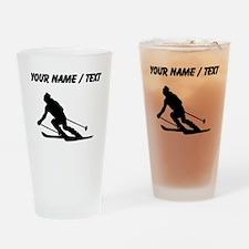 Skier (Custom) Drinking Glass