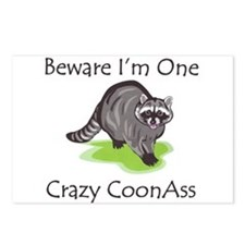 Beware I'm One Crazy Postcards (Package of 8)