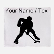 Hockey Player (Custom) Throw Blanket