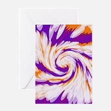 Purple Orange Bright Tie Dye Swirl Greeting Cards