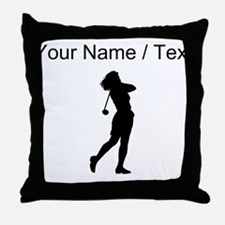 Woman Golfer (Custom) Throw Pillow