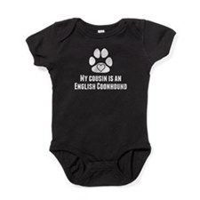 My Cousin Is An English Coonhound Baby Bodysuit