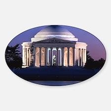 Thomas Jefferson Memorial at Dusk Decal