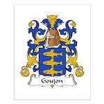 Goujon Family Crest Small Poster