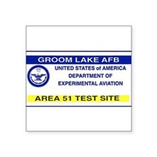 "Cute Area 51 Square Sticker 3"" x 3"""